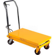 Wesco® Mobile Single Scissor Lift Table 260200 1000 lb. Capacity