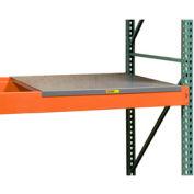"""Pallet Rack - Solid Steel Deck 58"""" W x 24"""" D"""