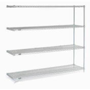 "Nexel Stainless Steel Wire Shelving Add-On 54""W X 18""D X 86""H"