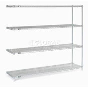 """Nexel Stainless Steel Wire Shelving Add-On 72""""W X 18""""D X 86""""H"""