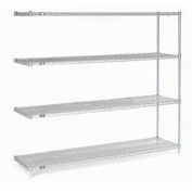 "Nexel Stainless Steel Wire Shelving Add-On 60""W X 24""D X 86""H"