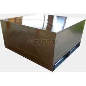 """Heavy-Duty Collapsible Aluminum Container w/Lid 72""""L x 40""""W x 48""""H, 18000 Lb Cap"""