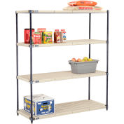 Vented Plastic Shelving 54x21x63 Nexelon Finish