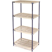 Vented Plastic Shelving 36x24x86 Nexelon Finish