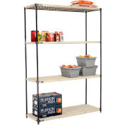 Vented Plastic Shelving 60x24x86 Nexelon Finish