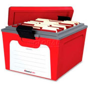 SentrySafe SentrySafe Fire Protection Guardian File Storage Box, Red