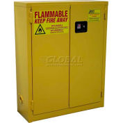 "Global&#8482 Flammable Cabinet RG20 Manual Close Single Door Wall Mount 20 Gallon, 34""Wx12""Dx44""H"