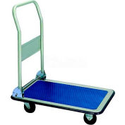 "Wesco® Folding Handle Steel Platform Truck 272239 35x23 5"" Rubber Casters"