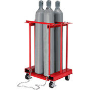 Forkliftable Cylinder Storage Caddy, Mobile For 4 Cylinders