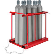 Forkliftable Cylinder storage Caddy, Stationary For 8 Cylinders
