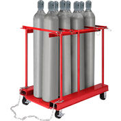 Forkliftable Cylinder Storage Caddy, Mobile For 8 Cylinders