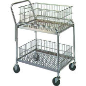 "Wesco® Office & Mail Cart 272228 33x20 4"" Rubber Casters"