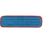 "Rubbermaid® Hygen™ 18"" Microfiber Damp Room Mop - Red - Pkg Qty 12"
