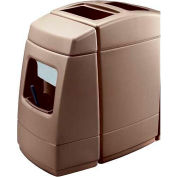 Haven 1 Single-Sided 55 Gallon Waste Windshield Center - Brown