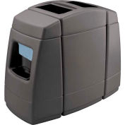 Haven 2 Double-Sided 55 Gallon Waste Windshield Center - Charcoal