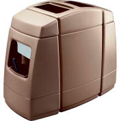 Haven 2 Double-Sided 55 Gallon Waste Windshield Center - Brown