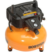 Bostitch BTFP02012, 0.8 HP, Hand Carry, 6 Gallon, Pancake, 150 PSI, 2.6 CFM, 1-Phase 120V