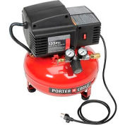 Porter Cable® PCFP02003, Portable Electric Air Compressor, 0.8 HP, 3.5 Gallon, Pancake, 2 CFM