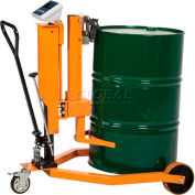 Vestil Ergonomic 55 Gallon Drum Truck with Scale DRUM-55-SCL 500 Lb. Cap.