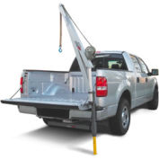 SpitzLift LKTRS-700 Pickup Truck Receiver Hitch Crane Package with 20' Strap