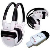 Infrared Headphone Set IR-10Set, White/Black