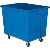 "Wesco® Plastic Box Truck 4 Bushel Blue 272504 5"" Casters"
