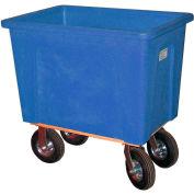 "Wesco® Plastic Box Truck 4 Bushel Blue 272535 8"" Casters"
