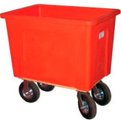 "Wesco® Plastic Box Truck 20 Bushel Red 272549 8"" Casters"
