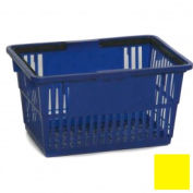 "Plastic Shopping Basket with Plastic Handle, Standard,17""L X 12""W X 9""H, Yellow, Good L Corp. ® - Pkg Qty 12"