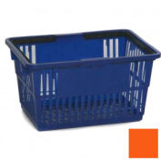 "Plastic Shopping Basket with Plastic Handle, Standard,17""L X 12""W X 9""H, Orange, Good L Corp. ® - Pkg Qty 12"