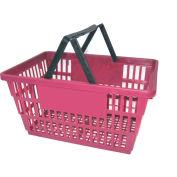 """Plastic Shopping Basket with Plastic Handle, Large, 19-3/8""""L X 13-1/4""""W X 10""""H, Grape, Good L ® - Pkg Qty 12"""