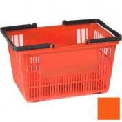 "Plastic Shopping Basket with Plastic Handle, Tall, 16""L X 12""W X 10""H, Orange, Good L Corp. ® - Pkg Qty 12"