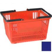 "Plastic Shopping Basket with Plastic Handle, Tall, 16""L X 12""W X 10""H, Dk Blue, Good L Corp. ® - Pkg Qty 12"