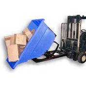 Bayhead Products Black Plastic Self-Dumping Forklift Hopper 1.1 Cu Yd