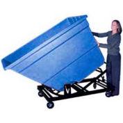 Bayhead Black Plastic Self-Dumping Forklift Hopper 1.7 Cu Yd with Caster Base