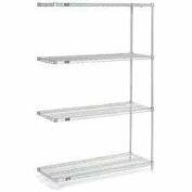 "Nexelate™ Silver Epoxy Wire Shelving Add-On 60""W x 18""D x 54""H"