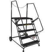 "5 Step Steel Truck/Dock Access Ladder - 32"" x 53"" Base - TA-5-24"