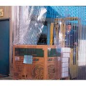 "Chase Doors Strip Door Curtain 7'W x 10'H with 12"" Loc-Rib™ Clear & Orange End Strip"