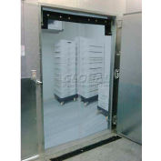 "Chase Doors EconoClear™ Flexible Low-Temperature Clear Swinging Door 34""W x 80""H"