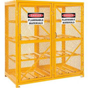 Cylinder Storage Cabinet Double Door Horizontal, 16 Cylinder Capacity