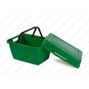 VersaCart ® TerraBins With Lid 28 Liter Plastic Basket, Green, Price per carton of 24