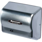American Dryer Advantage Series Hand Dryer W/ Universal Voltage 100-240V - Steel Satin Chrome AD90-C