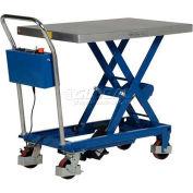 """Vestil Linear Actuated Elevating Cart CART-400-LA 15"""" to 34"""" Lift 400 Lb. Cap."""