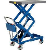 """Vestil Linear Actuated Elevating Cart CART-400-D-LA 15"""" to 51"""" Lift 400 Lb. Capacity"""