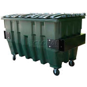 Otto Pioneer 2 Yd Front Load Plastic Dumpster Otto2ydFL - Forest Green