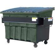 Otto SteeLite 3 Yd Front Load Plastic Dumpster Otto3ydFLSTL - Dark Gray