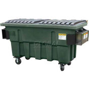 Otto Triumph 1 Yd Front Load Plastic Dumpster Triumph1ydFL - Forest Green