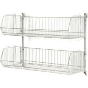 "Wall Mount Basket Kit 36""W x 20""D x 9""H (2 Basket) Chrome"