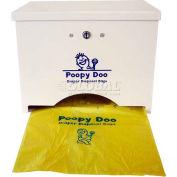 Poopy Doo Diaper Disposal Bag Dispenser - 400 Bag Capacity PD-DSP-06-WH