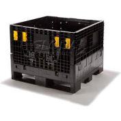 Plastic Folding Bulk Shipping Container BC3230-25 32x30x25 1800 lb. Capacity
